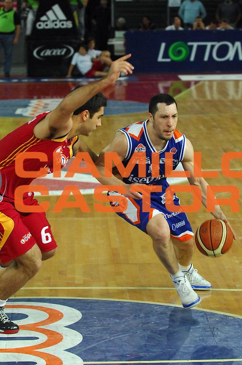 DESCRIZIONE : Roma Lega A1 2007-08 Playoff Quarti di Finale Gara 3 Lottomatica Virtus Roma Tisettanta Cantu<br /> GIOCATORE : Nicolas Mazzarino<br /> SQUADRA : Tisettanta Cantu<br /> EVENTO : Campionato Lega A1 2007-2008 <br /> GARA : Lottomatica Virtus Roma Tisettanta Cantu <br /> DATA : 15/05/2008 <br /> CATEGORIA : Palleggio<br /> SPORT : Pallacanestro <br /> AUTORE : Agenzia Ciamillo-Castoria/E. Grillotti