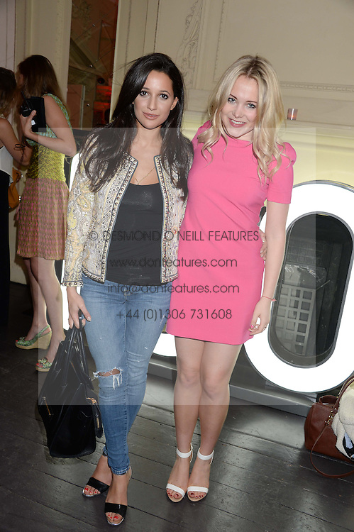 Left to right, ROXIE NAFOUSI and POPPY JAMIE at the Carrera Ignition Night at The House of St.Barnabas, Soho, London on 20th June 2013.
