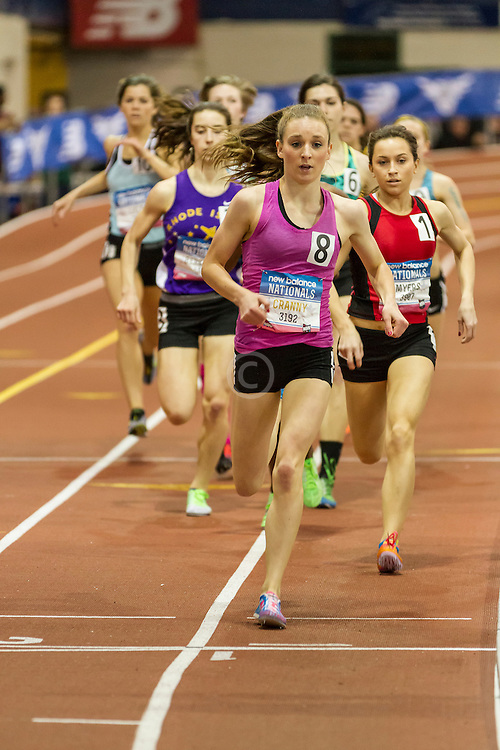 NSAF 2014 New Balance Nationals Indoor, girls 800 meters, Elise Cranny wins