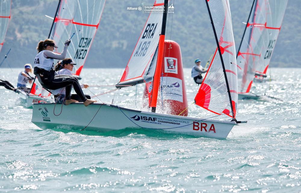 Brazil29erWomenCrewBRANB7NicoleBuuck<br />Brazil29erWomenHelmBRAMB33MarinaBomeisel<br />Day1, 2015 Youth Sailing World Championships,<br />Langkawi, Malaysia
