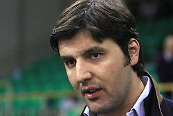 Dejan Bodiroga at basketball match of 3rd Round of Euroleague between KK Union Olimpija (SLO) and Lottomatica Roma (ITA), in Arena Tivoli, Ljubljana, Slovenia, on November 6, 2008. Lottomatica  won the match 78:67.