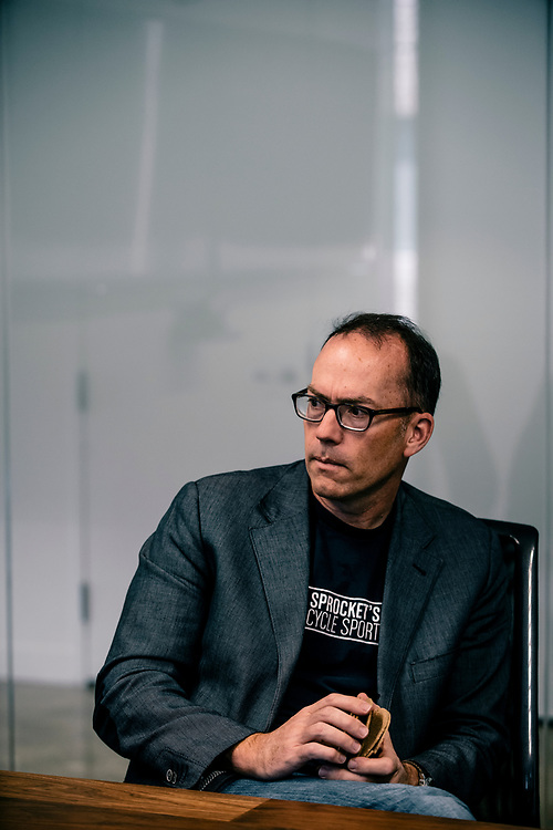 Doug Philippone at Palantir's Washington, DC offices in Georgetown. Philippone is the executive in charge of winning defense contracts for Palantir.