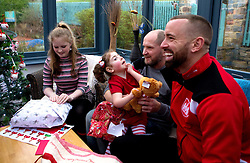 Aaron Wilbraham of Bristol City give out presents during Bristol City's visit to the Children's Hospice South West at Charlton Farm - Mandatory by-line: Robbie Stephenson/JMP - 21/12/2016 - FOOTBALL - Children's Hospice South West - Bristol , England - Bristol City Children's Hospice Visit