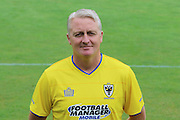 AFC Wimbledon development and youth squad manager Alan Reeves at AFC Wimbledon Team Photo 02AUG16 at the Cherry Red Records Stadium, Kingston, England on 2 August 2016. Photo by Stuart Butcher.