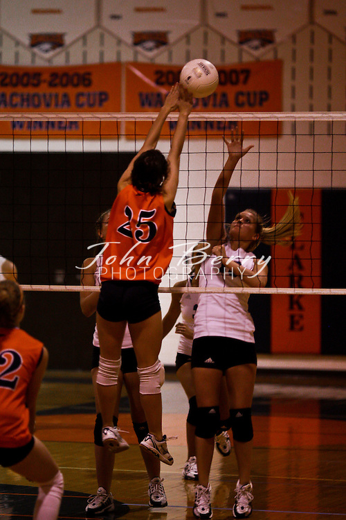 MCHS Varsity Volleyball .at Clarke.10/16/2008
