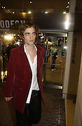 Robert Pattinson. World premiere of Harry Potter and the Goblet of Fire. Odeon Leicester Sq and afterwards at then Natural History Museum. London. 6 November 2005.  2005. ONE TIME USE ONLY - DO NOT ARCHIVE © Copyright Photograph by Dafydd Jones 66 Stockwell Park Rd. London SW9 0DA Tel 020 7733 0108 www.dafjones.com