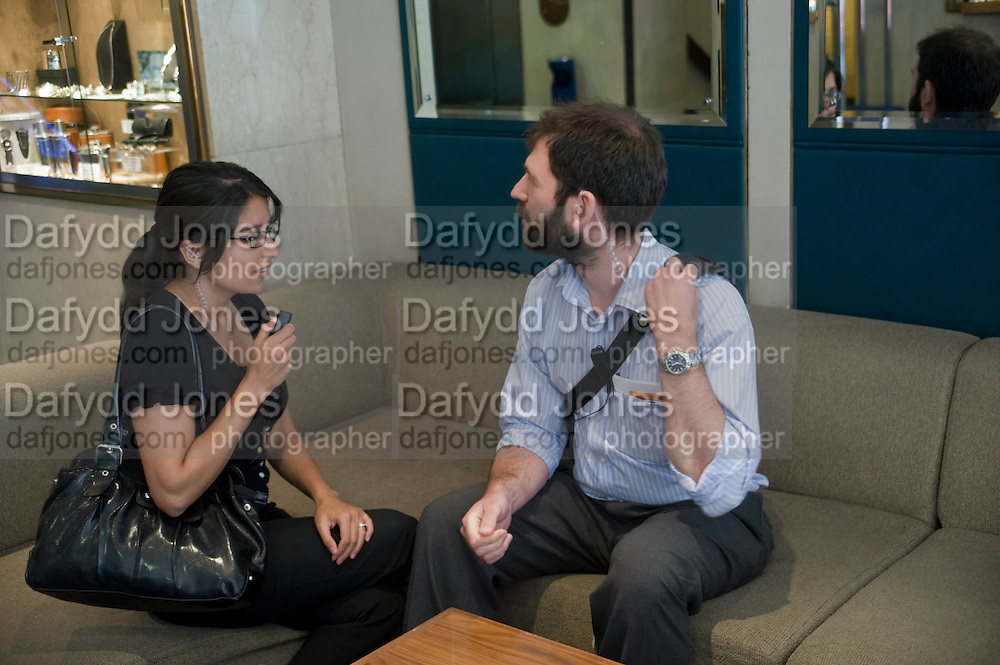 AMISHA SURANI; JAMES MILLAR, A group of journalists learning how to do covert surveillance with Cameron Addicott author of THE INTERCEPTOR. They tracked a 'target in central London. Thursday June 3rd 2010<br />  <br />  -DO NOT ARCHIVE-&copy; Copyright Photograph by Dafydd Jones. 248 Clapham Rd. London SW9 0PZ. Tel 0207 820 0771. www.dafjones.com