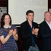 NLD/Amsterdam/20130513 -  Perspresentatie Baantjer, Miryanna van Reeden, Mike Weerts, Peter Tuinman