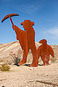 Public sculpture called Tribute to Shorty Harris 1994 in Goldwell, NV.