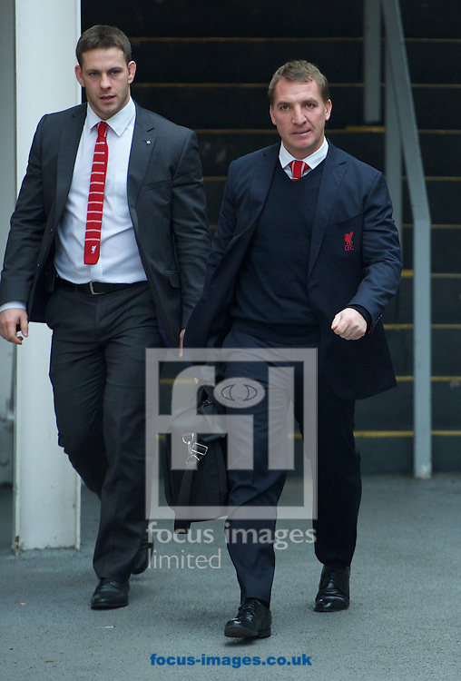 Manager Brendan Rodgers of Liverpool arrives for the FA Cup match at Selhurst Park, London<br /> Picture by Alan Stanford/Focus Images Ltd +44 7915 056117<br /> 14/02/2015
