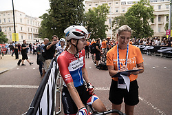 Lorena Wiebes (NED) of Parkhotel Valkenburg Cycling Team cools down after winning the Prudential RideLondon Classique, a 68 km road race starting and finishing in London, United Kingdom on August 3, 2019. Photo by Balint Hamvas/velofocus.com