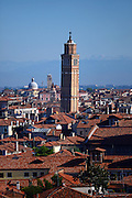 The Campanile of Santo Stefano in Venice, a leaning tower with inclination is similar to that of the Tower of Pisa, about 2 meters.