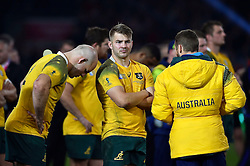 Drew Mitchell of Australia looks dejected after the match - Mandatory byline: Patrick Khachfe/JMP - 07966 386802 - 31/10/2015 - RUGBY UNION - Twickenham Stadium - London, England - New Zealand v Australia - Rugby World Cup 2015 Final.