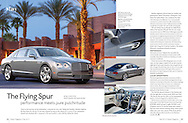 Feature magazine article about a 2015 Bentley Flying Spur w12 motorcar. Desert Magazine