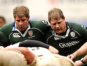 Reading, ENGLAND, Left David Paice and Neal Hatley, London Irish vs Saracens, Guinness Premiership Rugby, at the, Madejski Stadium, 06.05.2006, © Peter Spurrier/Intersport-images.com,  / Mobile +44 [0] 7973 819 551 / email images@intersport-images.com.