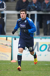 WYCOMBE, ENGLAND - Saturday, February 4, 2012: Wycombe Wanderers' Grant Basey warms-up before the Football League One match against Tranmere Rovers at Adams Park. (Pic by David Rawcliffe/Propaganda)