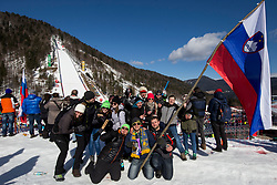 Supporters during Ski Flying Hill Team Competition at Day 3 of FIS Ski Jumping World Cup Final 2018, on March 24, 2018 in Planica, Ratece, Slovenia. Photo by Urban Urbanc / Sportida
