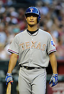 PHOENIX, AZ - MAY 27:  Pitcher Yu Darvish #11 of the Texas Rangers in action against the Arizona Diamondbacks during an interleague game at Chase Field on May 27, 2013 in Phoenix, Arizona.  The Diamondbacks defeated the Rangers 5-4.  (Photo by Jennifer Stewart/Getty Images) *** Local Caption *** Yu Darvish