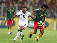 Fotball<br /> Foto: DPPI/Digitalsport<br /> NORWAY ONLY<br /> <br /> FOOTBALL - AFRICAN CUP OF NATIONS 2008 - 1/2 FINAL - 7/02/2008 - GHANA v CAMEROON - ANDRE AYEW (GHA) / ALEXANDRE SONG BILONG (CAM)<br /> <br /> Afrika mesterskapet<br /> Ghana v Kamerun