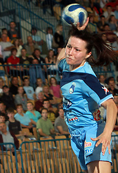 Manuela Hrnjic at handball game between women national teams of Slovenia and Belorussia, second qualification game for the European Chamionship 2009, on June 7, 2008, in Arena Zlatorog, Celje, Slovenija. Win of Belorussia, who qualified for EC 2009 in Macedonia. (Photo by Vid Ponikvar / Sportal Images)