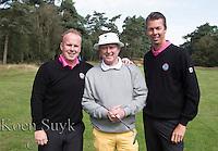 ARNHEM - De golfpro's van de Rosendaelsche GC.  John Boerdonk (l)  en Menno Pelk  en Jan Dorrestein (m)  COPYRIGHT KOEN SUYK