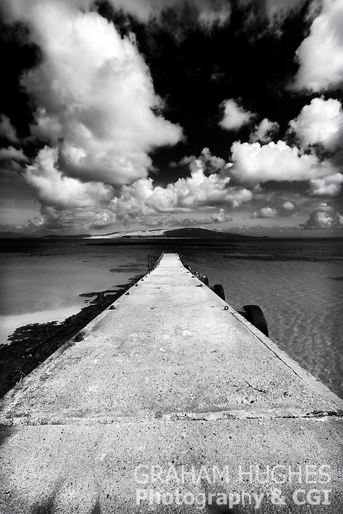 Isle Of Barra Jetty In Outer Hebrides, Scotland