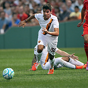 Michele Somma, AS Roma, in action during the Liverpool Vs AS Roma friendly pre season football match at Fenway Park, Boston. USA. 23rd July 2014. Photo Tim Clayton
