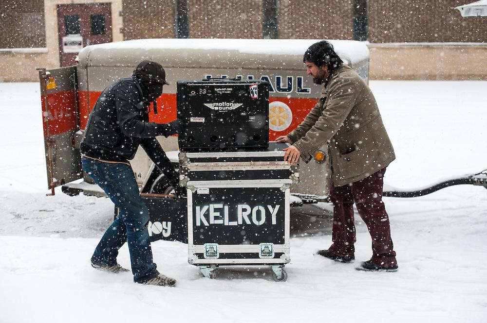 Loading the U-Haul for Kelroy's show at Kochanski's in Milwaukee.