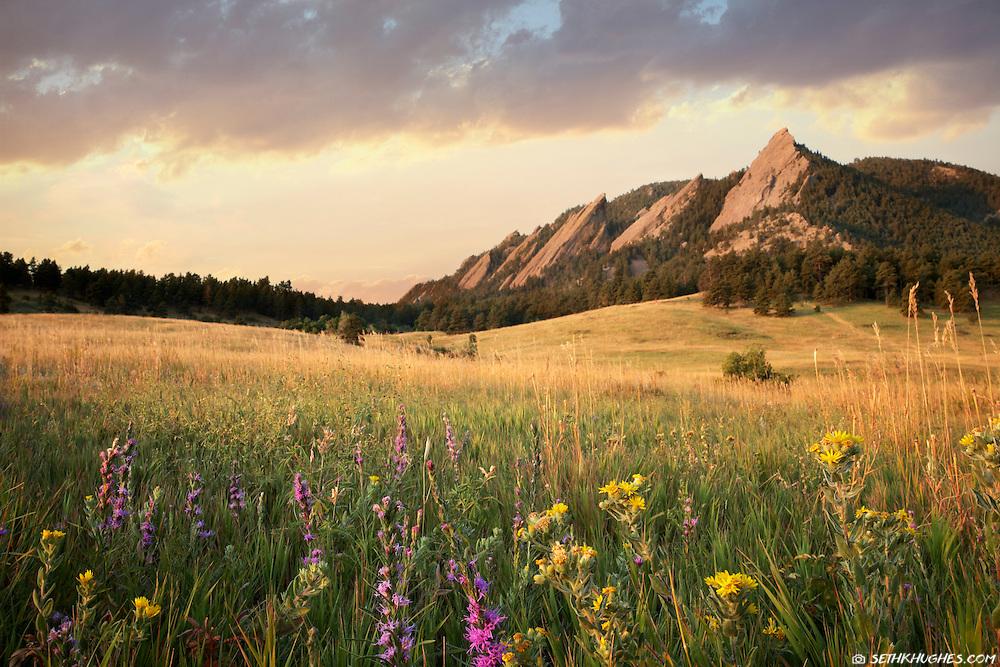 Flatirons, Chautauqua Park, Boulder, Colorado
