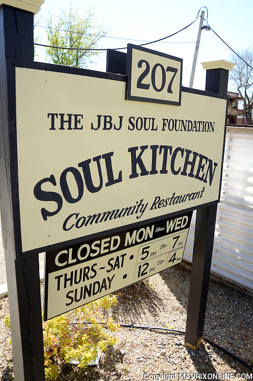 05/05/14 Red Bank, US // <br />  Jon Bon Jovi's Soul Kitchen in Red Bank. JBJ Soul Kitchen is a community restaurant with no prices on the menu; customers donate to pay for their meal. If you are unable to donate you may do volunteer work in exchange for your family&rsquo;s meal.