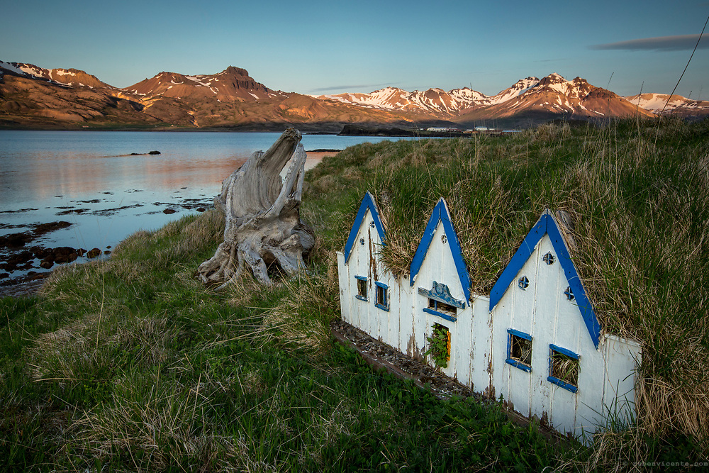 Little turf houses. Iceland