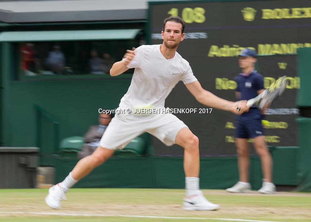 ADRIAN MANNARINO (FRA), Bewegungsunschaerfe,Mitzieher,<br /> <br /> Tennis - Wimbledon 2017 - Grand Slam ITF / ATP / WTA -  AELTC - London -  - Great Britain  - 11 July 2017.