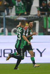 "Foto LaPresse/Filippo Rubin<br /> 22/10/2017 Ferrara (Italia)<br /> Sport Calcio<br /> Spal - Sassuolo - Campionato di calcio Serie A 2017/2018 - Stadio ""Paolo Mazza""<br /> Nella foto: GOAL SASSUOLO MATTEO POLITANO<br /> <br /> Photo LaPresse/Filippo Rubin<br /> October 22, 2017 Ferrara (Italy)<br /> Sport Soccer<br /> Spal vs Sassuolo - Italian Football Championship League A 2017/2018 - ""Paolo Mazza"" Stadium <br /> In the pic: GOAL SASSUOLO MATTEO POLITANO"
