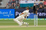 16th December 2018, Optus Stadium, Perth, Australia; International Test Series Cricket, Australia versus India, second test, day 3; Tim Paine of Australia ducks a short ball during Australias second innings