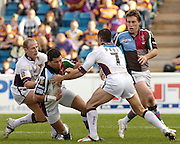 Twickenham, Surrey, ENGLAND, 29.04.2006, Quins Henry Paul [with the ball] runs into  Giants Robbie Paul, during round 12 of the Super league match, Quins RL vs Huddersfield Giants, at The Stoop,  © Peter Spurrier/Intersport-images.com,  Rugby League .