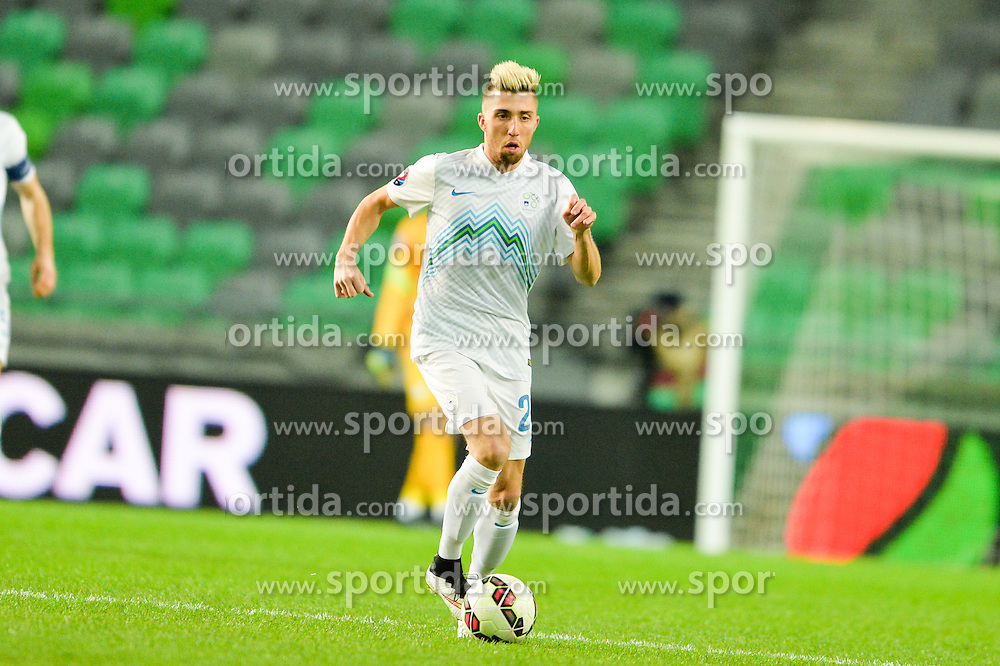 Kevin Kampl of Slovenia during football match between NationalTeams of Slovenia and San Marino in Round 5 of EURO 2016 Qualifications, on March 27, 2015 in SRC Stozice, Ljubljana, Slovenia. Photo by Mario Horvat / Sportida / Sportida
