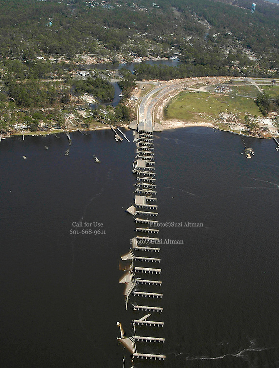 Hurricane Katrina Mississippi Gulf Coast aerials from first morning after the storm made land fall.Photo©Suzi Altman
