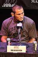 LAS VEGAS, NEVADA, JULY 9, 2009: Dan Henderson is pictured during the pre-fight press conference for UFC 100 inside the House of Blues in Las Vegas, Nevada