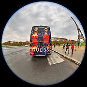 November 21~28, 2014  •  Paris, France  •  new images for 'aRound Paris'  •  tour bus by Eiffel Tower by Place Jacques Rueff (Avenue Joseph Bouvard)