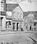 Slave auction shop, Atlanta, Georgia, USA c1860-1862.