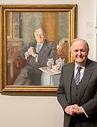 UNITED KINGDOM, London: 08 May 2019 <br /> The Rt Hon Lord Beith stands next to his portrait painted by Andrew Festing at the launch of The Royal Society of Portrait Painters' annual exhibition at The Mall Galleries, London. <br /> The exhibition consists of faces both famous and not-so famous and is a celebration of the very best in contemporary portraiture nationally and internationally.<br /> Rick Findler