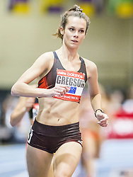 New Balance Indoor Grand Prix Track, womens 2000  meters, Gregson rabbits