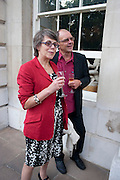 JANET LAW; CHRIS PARKER, David Campbell and Knopf host the 20th Anniversary of the revival of Everyman's Library. Spencer House. St. James's Place. London. 7 July 2011. <br /> <br />  , -DO NOT ARCHIVE-© Copyright Photograph by Dafydd Jones. 248 Clapham Rd. London SW9 0PZ. Tel 0207 820 0771. www.dafjones.com.