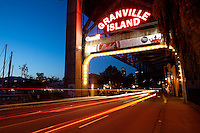 Granville Island at Night, Vancouver, Canada