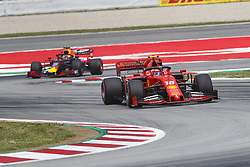 May 11, 2019 - Barcelona, Catalonia, Spain - Ferrari driver Charles Leclerc (16) of Monaco and Red Bull Racing Honda driver Max Verstappen (33) of Netherlands during F1 Grand Prix qualifying celebrated at Circuit of Barcelona 11th May 2019 in Barcelona, Spain. (Credit Image: © Mikel Trigueros/NurPhoto via ZUMA Press)