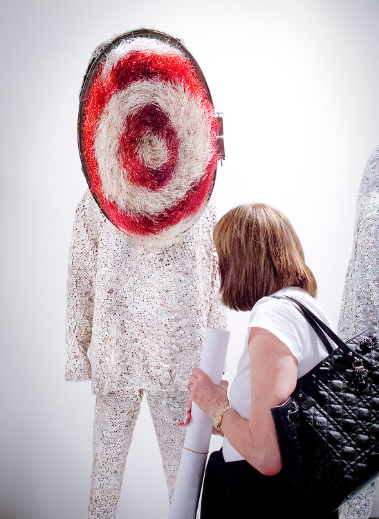 """Soundsuit"" by Nick Cave at the Jack Shainman Gallery's booth at Art Basel Miami Beach 2010."