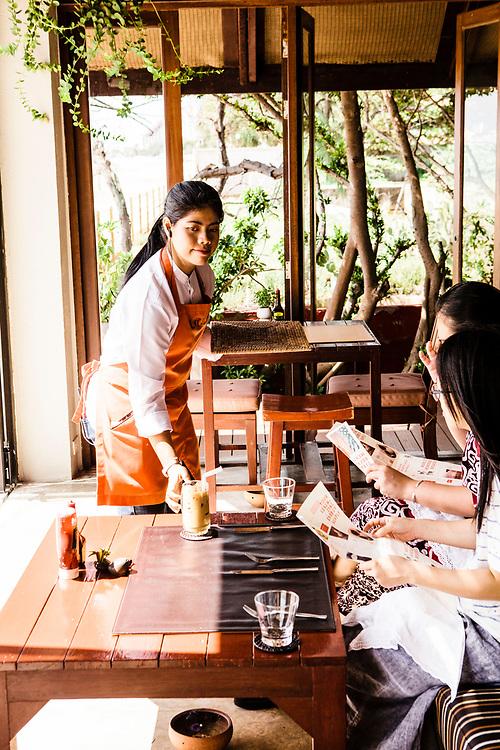 Let's Sea restaurant at breakfast, Hua Hin