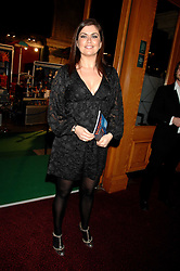 AMANDA LAMB at the gala night of Varekai by Cirque du Soleil at The Royal Albert Hall, London on 8th January 2008.<br />