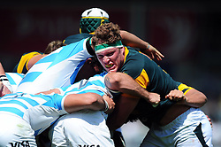 Cobus Wiese of South Africa U20 in action at a maul - Mandatory byline: Patrick Khachfe/JMP - 07966 386802 - 25/06/2016 - RUGBY UNION - AJ Bell Stadium - Manchester, England - Argentina U20 v South Africa U20 - World Rugby U20 Championship 2016 3rd Place Play-Off.
