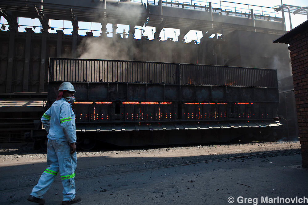 Arcelor Mittal Van Der Bijl plant, November 2009. Greg Marinovich